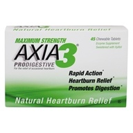 Axia3 - ProDigestive Antacid Fast Heartburn Relief Mint Flavor - 45 Chewable Tablets