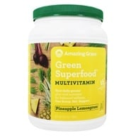 Amazing Grass - Green Superfood Drink Powder 100 Servings Pineapple Lemongrass - 24.7 oz. by Amazing Grass