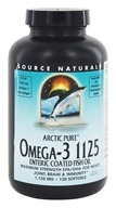 Image of Source Naturals - ArcticPure Omega-3 Fish Oil 1125 mg. - 120 Enteric Coated Softgels