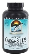 Source Naturals - ArcticPure Omega-3 Fish Oil 1125 mg. - 120 Enteric Coated Softgels - $35.26