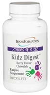 Transformation Enzymes - Zymes 4 Kidz Digest Chewable Berry Flavor - 180 Chewable Tablets
