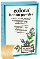 Colora - Henna Powder Natural Organic Hair Color Apricot Gold - 2 oz.