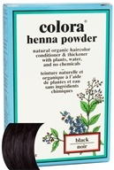 Colora - Henna Powder Natural Organic Hair Color Black - 2 oz.