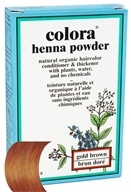 Colora - Henna Powder Natural Organic Hair Color Gold Brown - 2 oz.