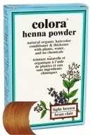 Image of Colora - Henna Powder Natural Organic Hair Color Light Brown - 2 oz.