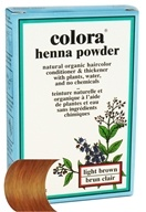 Colora - Henna Powder Natural Organic Hair Color Light Brown - 2 oz.