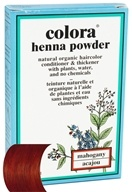 Colora - Henna Powder Natural Organic Hair Color Mahogany - 2 oz.