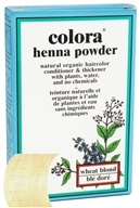 Colora - Henna Powder Natural Organic Hair Color Wheat Blonde - 2 oz. by Colora
