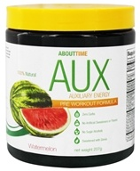 Image of About Time - AUX Auxiliary Energy Pre Workout Formula Watermelon - 207 Grams