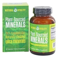 Natural Vitality - Plant-Sourced Minerals - 60 Capsules, from category: Vitamins & Minerals