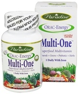 Paradise Herbs - Orac-Energy Multi-One With Iron - 30 Vegetarian Capsules (601944778286)
