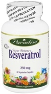 Paradise Herbs - Super Potency Resveratrol 250 mg. - 60 Vegetarian Capsules, from category: Nutritional Supplements