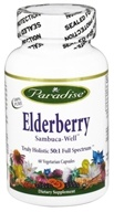 Paradise Herbs - Elderberry Sambuca-Well - 60 Vegetarian Capsules CLEARANCED PRICED (601944778163)