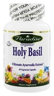Paradise Herbs - Organic Holy Basil - 60 Vegetarian Capsules, from category: Herbs