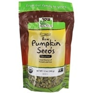 NOW Foods - Pumpkin Seeds Unsalted - 12 oz. (733739070234)