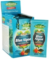 Image of Artisana - Raw Organic Superfood Nut Butter Squeeze Pack Blue Algae - 0.5 oz.