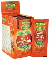 Image of Artisana - Raw Organic Superfood Nut Butter Squeeze Pack Goji & Milk Thistle - 0.5 oz.