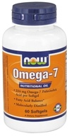Image of NOW Foods - Omega-7 Nutritional Oil - 60 Softgels