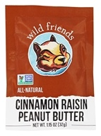 Wild Friends - All Natural Peanut Butter Cinnamon Raisin - 1.15 oz., from category: Health Foods