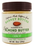 Barney Butter - All Natural Almond Butter Bare Crunchy - 10 oz. (094922365712)