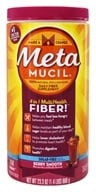 Image of Metamucil - MultiHealth Fiber 100% Natural Psyllium Husk Sugarfree Berry Smooth - 23.3 oz.