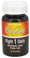 Carlson Labs - Right 1 Daily Multiple Vitamin With Fish Oil - 30 Softgels CLEARANCED PRICED - $6.62