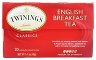 Image of Twinings of London - Classics English Breakfast Tea - 20 Tea Bags