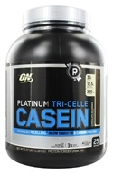 Image of Optimum Nutrition - Platinum Tri-Celle Casein Chocolate Decadence - 2.37 lbs.