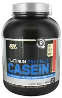 Image of Optimum Nutrition - Platinum Tri-Celle Casein Strawberry Indulgence - 2.26 lbs.