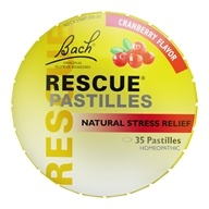 Image of Bach Original Flower Remedies - Rescue Remedy Pastilles Cranberry - 1.7 oz.