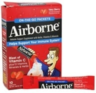 Airborne - On The Go Immune Support Supplement Very Berry - 10 Packet(s), from category: Nutritional Supplements