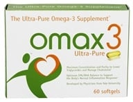 Image of Omax3 - Ultra-Pure Omega-3 Supplement - 60 Softgels