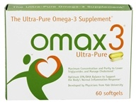 Omax3 - Ultra-Pure Omega-3 Supplement - 60 Softgels