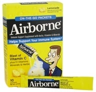 Image of Airborne - On The Go Immune Support Supplement Lemonade - 10 Packet(s)