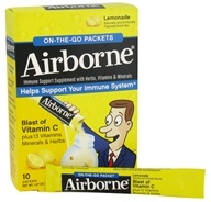 Airborne - On The Go Immune Support Supplement Lemonade - 10 Packet(s) - $6.49