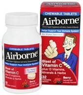 Airborne - Chewable Immune Support Berry - 32 Chewable Tablets