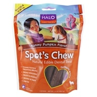Halo Purely for Pets - Spot's Chew Natural Edible Dental Treat For Dogs Yummy Pumpkin Flavor - 7.2 oz.