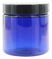 Wyndmere Naturals - Cobalt Blue Plastic Jar with Lid - 4 oz.