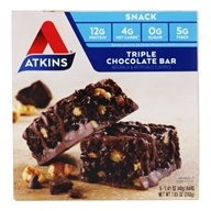 Atkins Nutritionals Inc. - Advantage Snack Bar Triple Chocolate - 5 Bars (063748003054)