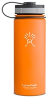 Image of Hydro Flask - Stainless Steel Water Bottle Vacuum Insulated Wide Mouth Orange Zest - 18 oz.