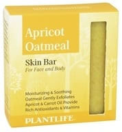 Plantlife Natural Body Care - Skin Bar Soap For Face & Body Apricot Oatmeal - 4.5 oz. (643948012003)