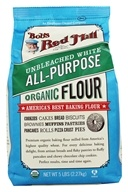Bob's Red Mill - Unbleached White Flour Organic - 5 lbs., from category: Health Foods