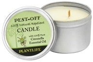 Plantlife Natural Body Care - Pest-Off Candle - 1 Count (643948008655)
