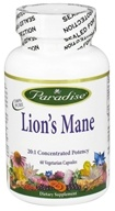 Paradise Herbs - Lion's Mane - 60 Vegetarian Capsules, from category: Nutritional Supplements