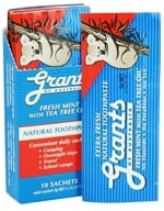 Grants of Australia - Natural Toothpaste Fresh Mint with Tea Tree Oil - 10 x .10 oz. Packets by Grants of Australia