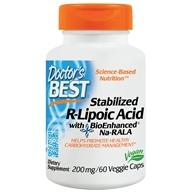Doctor's Best - Best Stabalized R-Lipoic Acid Featuring BioEnhanced Na-RALA - 60 Vegetarian Caplet(s), from category: Nutritional Supplements