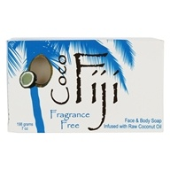 Organic Fiji - Face and Body Coconut Oil Bar Soap Fragrance Free - 7 oz. (833884000879)