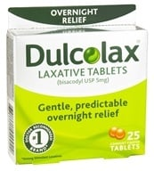 Dulcolax - Laxative Tablets Overnight Relief - 25 Tablets, from category: Nutritional Supplements