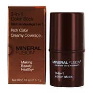 Mineral Fusion - 3-In-1 Color Stick for Eyes, Cheeks & Lips Terra Cotta - 0.18 oz.