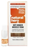 Natural Hero - Hot Ginger Muscle Soak - 6 x .61 oz. Bottles by Natural Hero